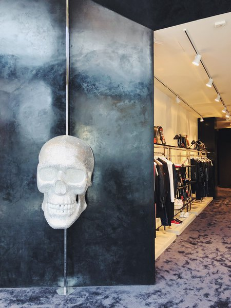 78d9bc9911 Merging the worlds of rock 'n' roll with an unabashedly luxurious  lifestyle, Philipp Plein's debut at Americana Manhasset continues the  designer's desire to ...