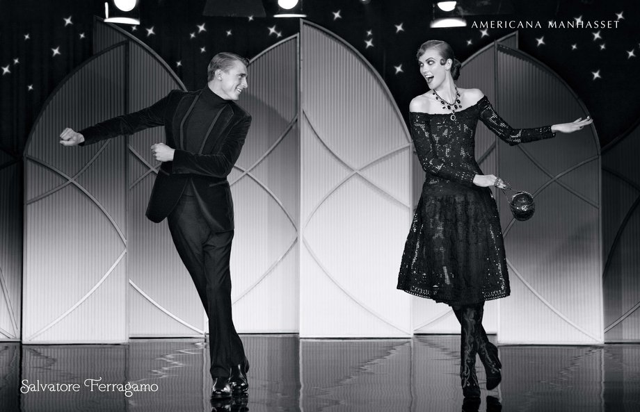 Fall-2012-SalvatoreFerragamo_Clèment Chabernaud and Karli Kloss
